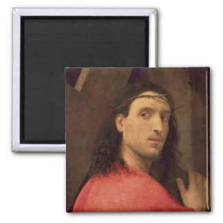 Christ Carrying the Cross, c.1515 2 Inch Square Magnet
