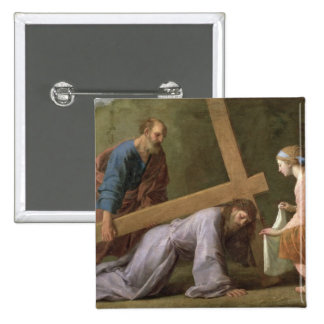 Christ Carrying the Cross, c.1651 Pinback Button