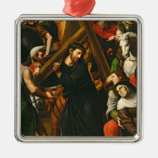 Christ Carrying the Cross Metal Ornament