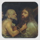 Christ Carrying the Cross Square Sticker