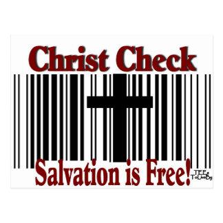 Christ Check! Postcard