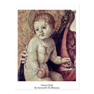 Christ Child By Antonello Da Messina Post Cards