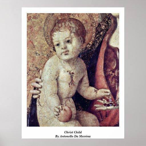 Christ Child By Antonello Da Messina Poster