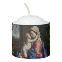 Christ Child Embracing His Mother Votive Candle