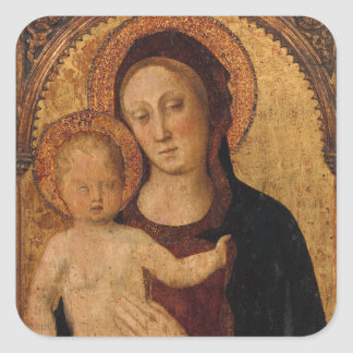 Christ Child in  Arch with Mother Square Sticker