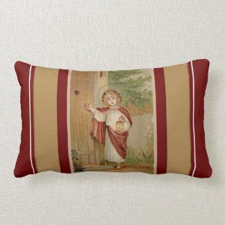 Christ Child Jesus knocking at Door Lumbar Pillow
