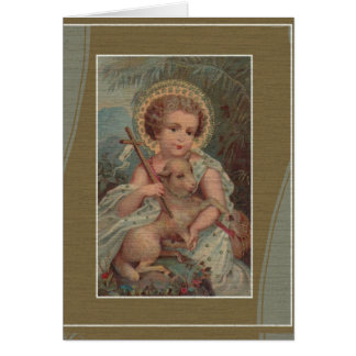 Christ Child Jesus w/lamb  Mass Offering Memorial Card