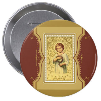 Christ Child Jesus with thorns & nails Button