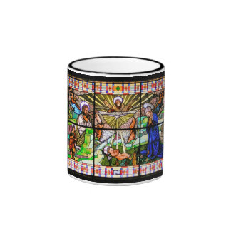 Christ Child Stained Glass Art Ringer Coffee Mug
