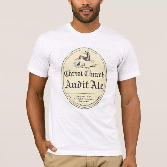 Christ Church Audit Ale Vintage Beer Label Tshirt