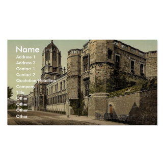 Christ Church College, Oxford, England rare Photoc Business Card Template