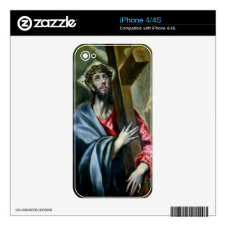 Christ Clasping the Cross, 1600-10 (oil on canvas) iPhone 4S Decal