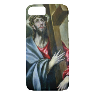 Christ Clasping the Cross, 1600-10 (oil on canvas) iPhone 8/7 Case