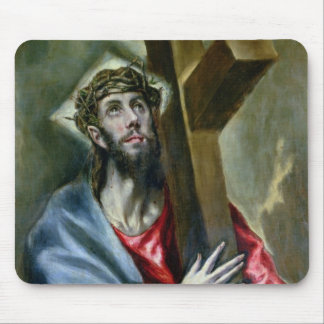 Christ Clasping the Cross, 1600-10 (oil on canvas) Mouse Pad