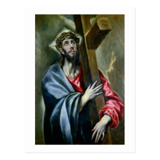 Christ Clasping the Cross, 1600-10 (oil on canvas) Postcard