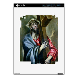 Christ Clasping the Cross, 1600-10 (oil on canvas) Decal For iPad 3