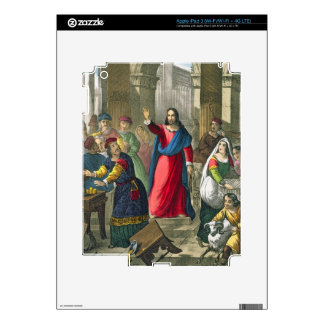 Christ Cleanses the Temple, from a bible printed b iPad 3 Skin