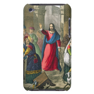 Christ Cleanses the Temple, from a bible printed b iPod Case-Mate Case