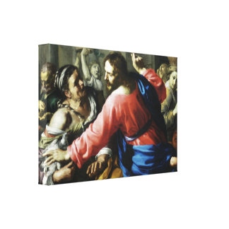 Christ Cleansing the Temple by Bernardino Mei Canvas Print