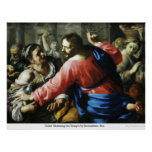 Christ Cleansing the Temple by BernardinoMei Print