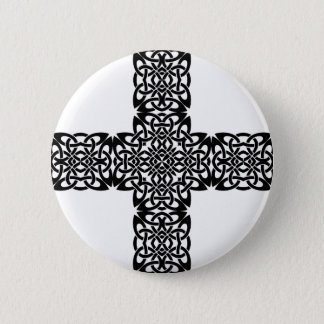Christ cross celtic button