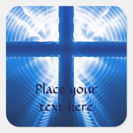 Christ Cross Square Sticker