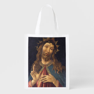 Christ Crowned with Thorns by Botticelli Grocery Bag