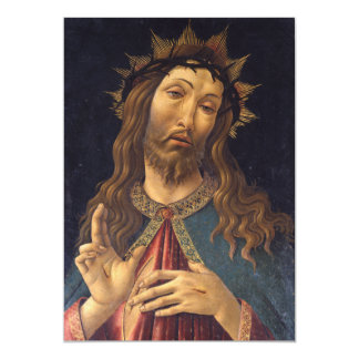 Christ Crowned with Thorns by Botticelli Custom Invites