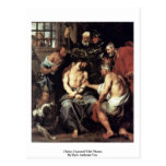 Christ, Crowned With Thorns By Dyck Anthonis Van Postcard