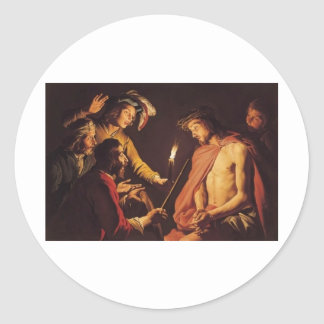 Christ Crowned with Thorns c. 1633-1639 Classic Round Sticker