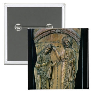 Christ Crowning the Emperor Constantine VII Pinback Button