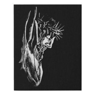 Christ Crucified Faux Canvas Print