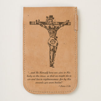 Christ Crucified with Christian Scripture iPhone 6/6S Case