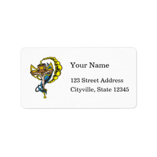 Christ, Crucifix and Cup Address Label