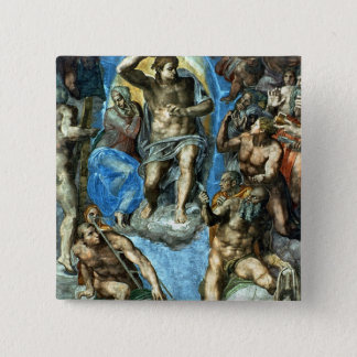 Christ, detail from 'The Last Judgement' Pinback Button