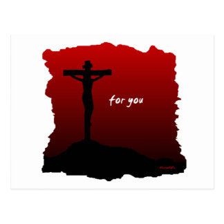 Christ died for you christian gift postcard