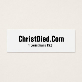 Christ Died Skinny Business Cards