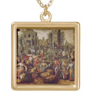 Christ displayed to the people gold plated necklace