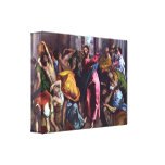 Christ Drives Dealers From Temple  by Eugene Greco Canvas Print
