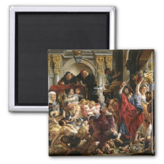 Christ Driving the Merchants from the Temple Magnet