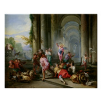 Christ Driving the Merchants from the Temple Poster