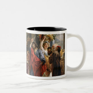 Christ Driving the Merchants from the Temple Two-Tone Coffee Mug