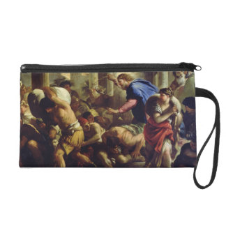 Christ Driving the Merchants from the Temple Wristlet Purse