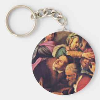 Christ Driving The Money-Changers From The Temple. Keychain