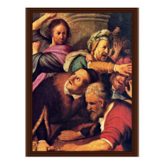 Christ Driving The Money-Changers From The Temple. Postcard