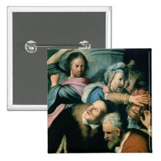 Christ Driving the Moneychangers Button