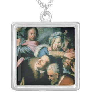 Christ Driving the Moneychangers Square Pendant Necklace