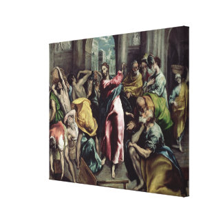 Christ Driving the Traders from the Temple Stretched Canvas Prints