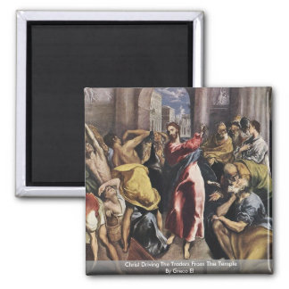 Christ Driving The Traders From The Temple Magnet