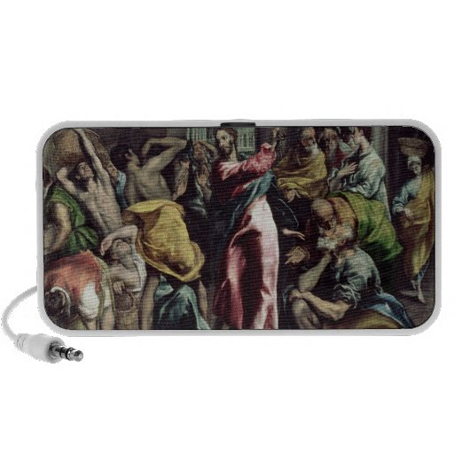 Christ Driving the Traders from the Temple Mini Speaker